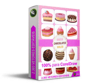 Pacote 2.303 Doces Chocolates Bolos CDR.png